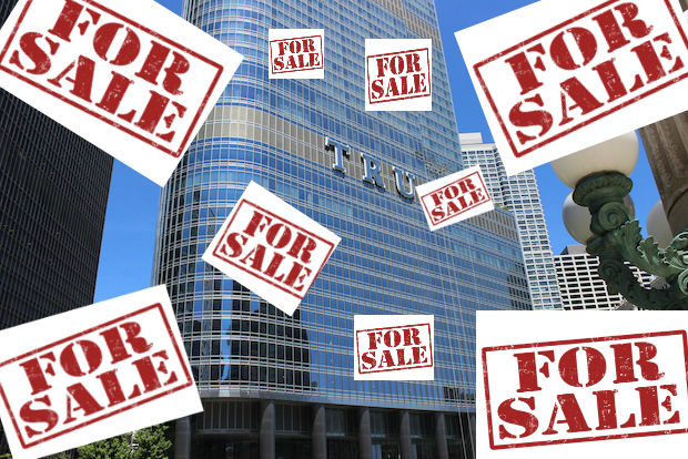 Why are so many trump tower condos for sale right now for Hotel right now in chicago